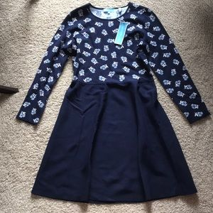 NWT Draper James blue floral fit and flare dress